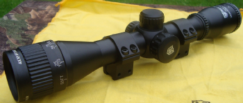 "Nikko Mountmaster 4x32 Parallax AO Illuminated HMD Rifle Scope with 3/8"" 9-11mm Dovetail Mounts"